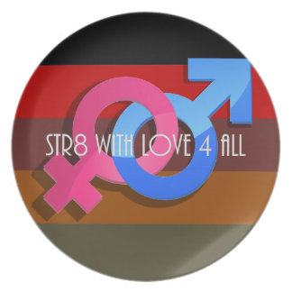 Hetero Pride: Str8 with Love 4 All Dinner Plate