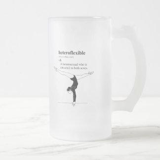 HETEROFLEXIBLE 16 OZ FROSTED GLASS BEER MUG