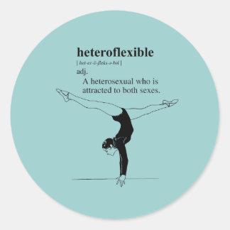 HETEROFLEXIBLE CLASSIC ROUND STICKER