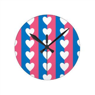 Heterosexual Flag II Round Clock