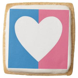 Heterosexual Flag Square Shortbread Cookie