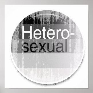 Heterosexual Label distressed png Poster