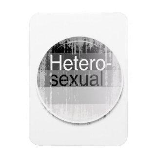 Heterosexual Label distressed.png Rectangular Photo Magnet