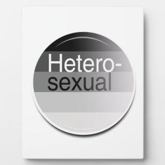 Heterosexual Label Photo Plaque
