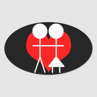 Heterosexual Oval Sticker