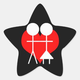 Heterosexual Pegatina En Forma De Estrella