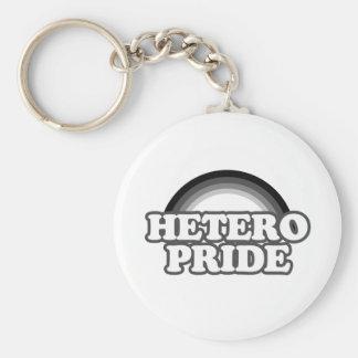 Heterosexual pride key chain