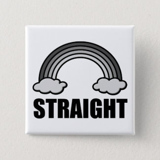 Heterosexual Pride Straight Equality Button Badge