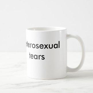 heterosexual tears classic white coffee mug