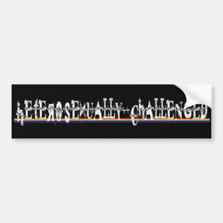 Heterosexually Challenged Car Bumper Sticker