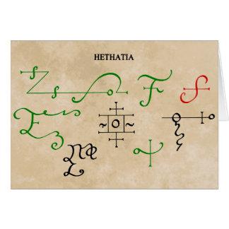 HETHATIA GREETING CARD