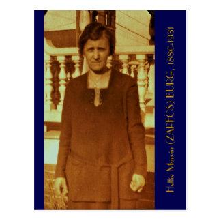 Hettie Marvin (ZARFOS) BURG, 1880-1931 Postcard