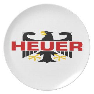 Heuer Surname Dinner Plates