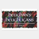 Heughligans Logo Rectangular Sticker