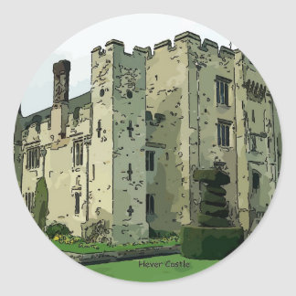 Hever Castle Design 2 Classic Round Sticker