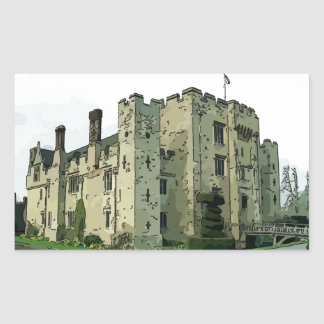 Hever Castle Design 2 Rectangular Sticker
