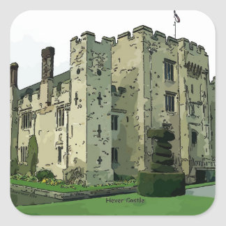 Hever Castle Design 2 Square Sticker
