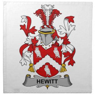 Hewitt Family Crest Napkin