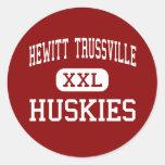 Hewitt Trussville - perros esquimales - joven - Etiquetas Redondas
