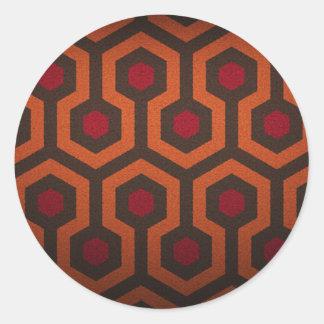hex design round stickers