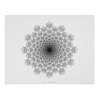 Hex Nut Cap Spiral Posters