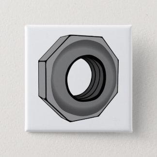 Hex Nut Pinback Button