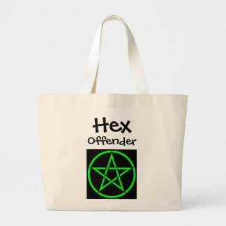 hex offender large tote bag