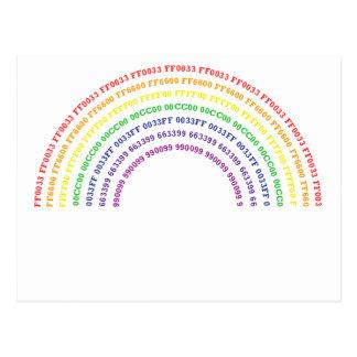 Hex Rainbow Postcard