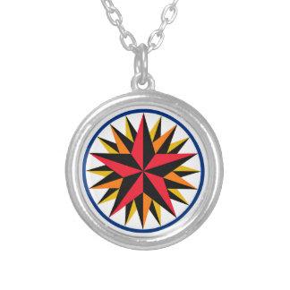 HEX Sign Pennsylvania Dutch 1 - Silver Necklace