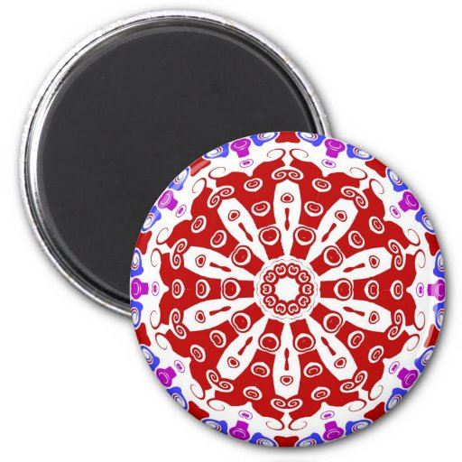 Hex Sign Red 2 Inch Round Magnet