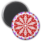 Hex Sign Red Magnet