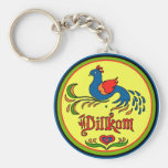 Hex Sign Welcome Bird Key Chain