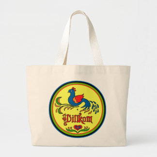Hex Sign Welcome Bird Large Tote Bag