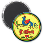 Hex Sign Welcome Bird Magnet at Zazzle