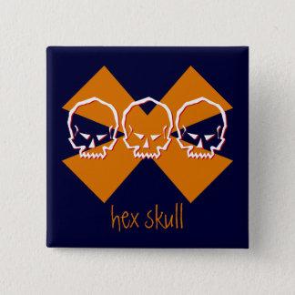 hex skull  square button