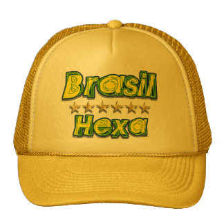 Hexa Brasil World Champions Brazil 6 star Trucker Hat