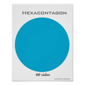 Hexacontagon Poster of Polygon