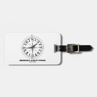 Hexadecimal Clock By Nystrom (Illustration) Tag For Luggage