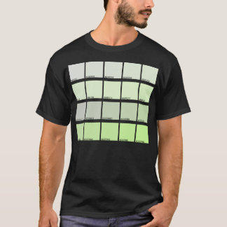 Hexadecimal Colors Hue 241-260 T-Shirt