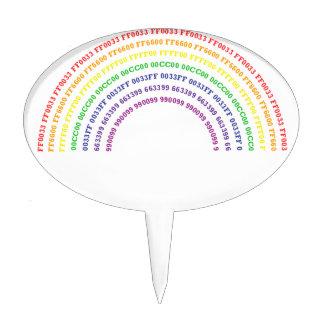 Hexadecimal Rainbow Cake Topper