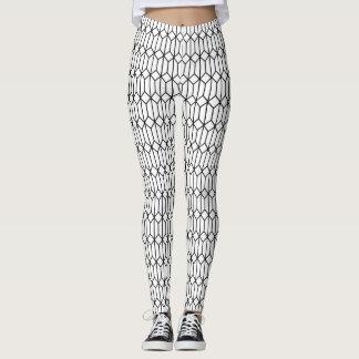 Hexadiamond Outline Patterned Leggings