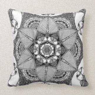 Hexaflower Throw Pillow
