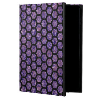 HEXAGON2 BLACK MARBLE & PURPLE MARBLE (R) POWIS iPad AIR 2 CASE