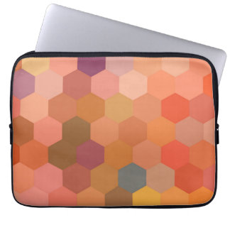 Hexagon Abstract Art | Modern Geometric Pattern 2 Computer Sleeve