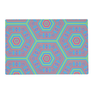 Hexagon abstract pattern placemat