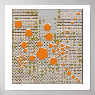 Hexagon Descend Print