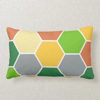 Hexagon Design Lumbar Pillow