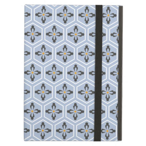 Hexagon Floral Icons Case For iPad Air