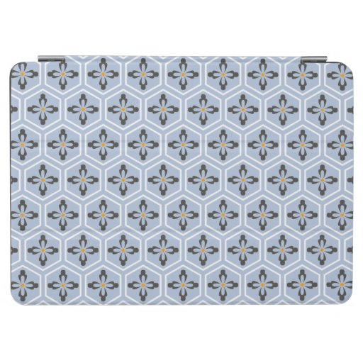 Hexagon Floral Icons iPad Air Cover