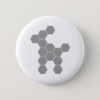 Hexagon Future Dog Pinback Button